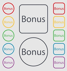 Bonus sign icon special offer label symbols on the vector