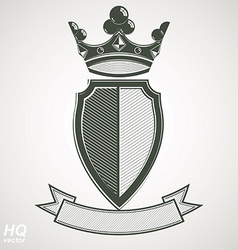 Heraldic royal blazon - imperial striped vector