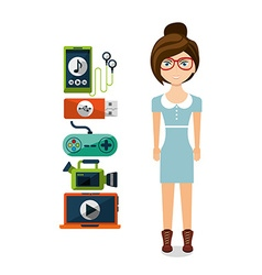 Gadgets technology design vector