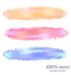 Set of three watercolor stain vector