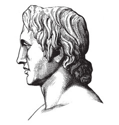 Alexander the great vintage vector