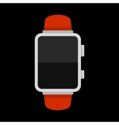 Blank Smart Watch Isolated on Black Background vector image vector image