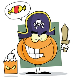 Cartoon Character Halloween Pumkin vector image vector image