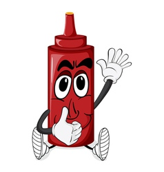 Cartoon Tomato Sauce vector image