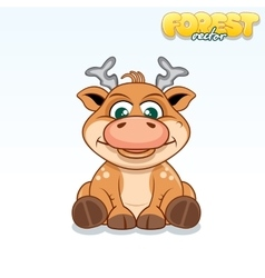 Cute Cartoon Axis Deer Funny Animal vector image vector image