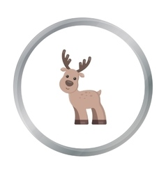 Deer cartoon icon for web and mobile vector image
