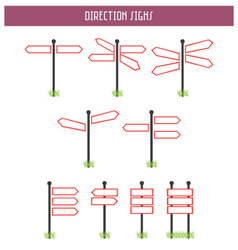 Direction Sighs vector image