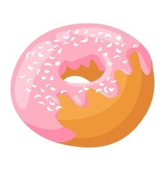 Donut isolated vector