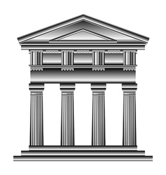 Doric temple vector image