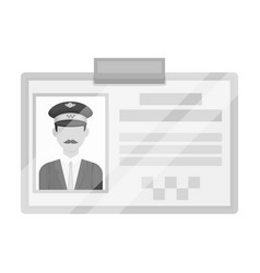 driver document taxiplastik card taxi driver with vector image vector image