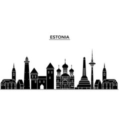 estonia talinn architecture city skyline vector image