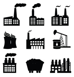 factories vector image vector image