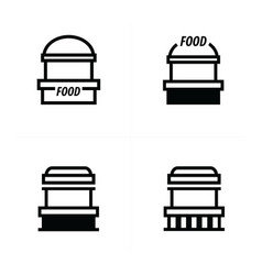 fast food trolley icons design vector image vector image