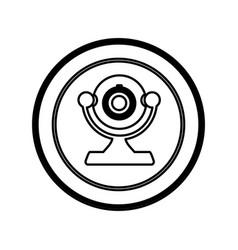 Figure symbol computer camera icon vector