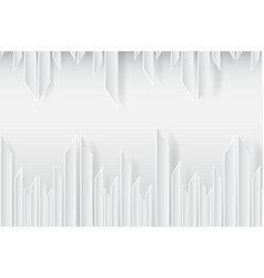 Geometric lines white texture background vector