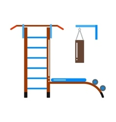 Gymnastic ladder vector