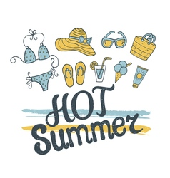 Hot summer pattern vector