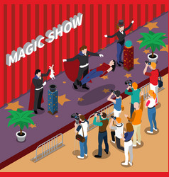 Magic show isometric vector