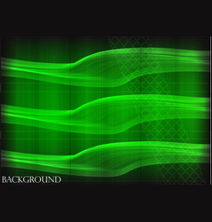 many fine lines on a green background vector image vector image