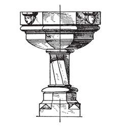 Modern stoup vintage vector