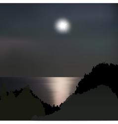 Moon path on the sea at night vector image