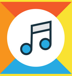 music colorful outline symbol premium quality vector image vector image