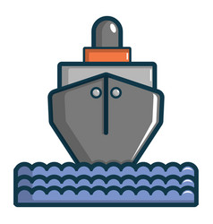 Oil tanker icon cartoon style vector