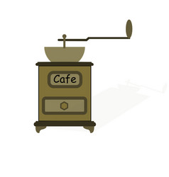 old manual coffee grinder vector image
