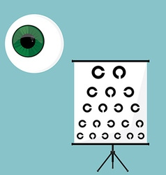 Ophthalmology icons set vector image vector image
