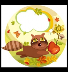 Raccoon squirrel vector