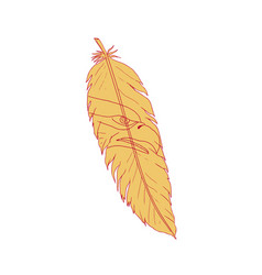 sea eagle head inside feather drawing vector image vector image