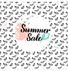 Summer sale postcard vector