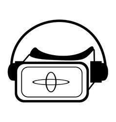 Vr glasses smart high technology outline vector