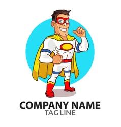 White superhero logo vector
