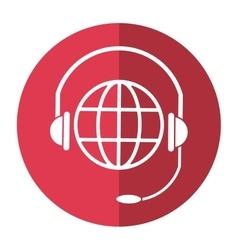 World planet head service communication shadow vector