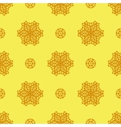 Creative ornamental seamless yellow pattern vector