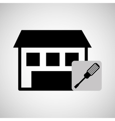 Screwdriver repair construction house icon vector