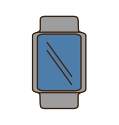 Cartoon smart watch wearable blue screen vector