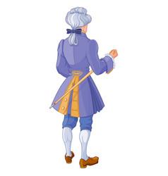 Gentleman in beautiful blue suit vector