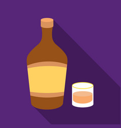 Liqueur icon in flat style isolated on white vector