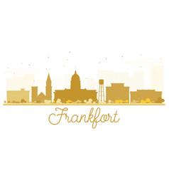 Frankfort city skyline golden silhouette vector