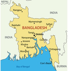 Peoples republic of bangladesh - map vector