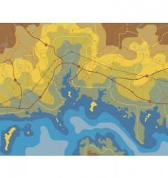 Coastal map vector