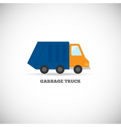 Garbage truck isolated vector