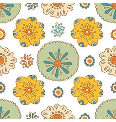 Seamless floral pattern summer ornament vector
