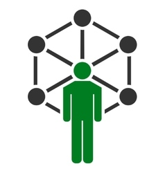Network icon from business bicolor set vector