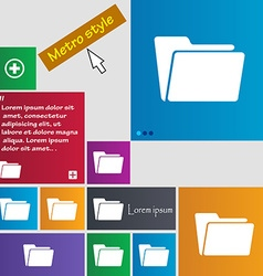 Folder icon sign buttons modern interface website vector