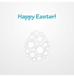 Abstract light grey easter egg background vector