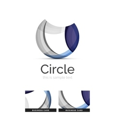 Circle logo Transparent overlapping swirl shapes vector image