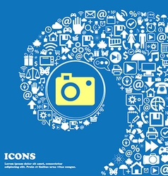 Camera icon nice set of beautiful icons twisted vector